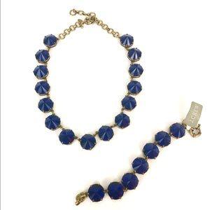 J. Crew Pointed Stone Necklace & Bracelet Set
